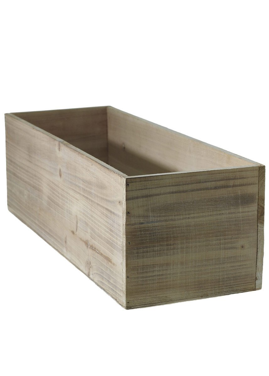 Accent Decor (ACD-) Large Wood Planter Box - 18.25 Inch L X 6.5 Inch W X 5.75 Inch H