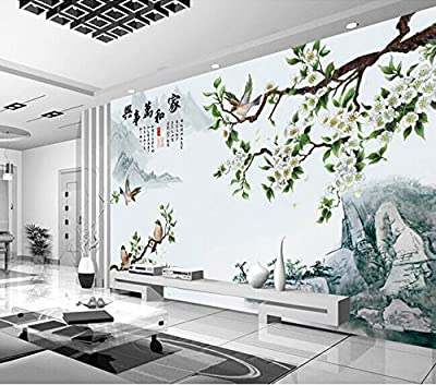 XLi-You 3D living room bedroom tv background wall paper stereo large Chinese style Paintings