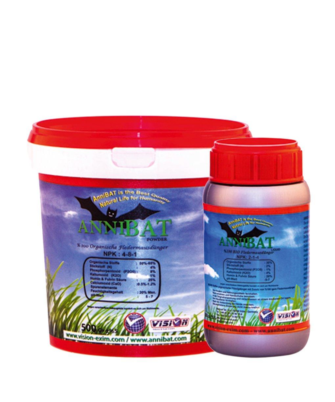 Guano Fertilizer Powder Organic Bat Bat with Iliser Bat 1kg Vision