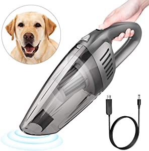 Car Vacuum, E COASTAL Rechargeable 12V 120W 7000PA Cordless Wet Dry Hand Vacuum, Handheld Strong Suction Car Vacuums Portable Cleaner Auto Dust Buster for Car Keyboard Cleaning Kit, Gray