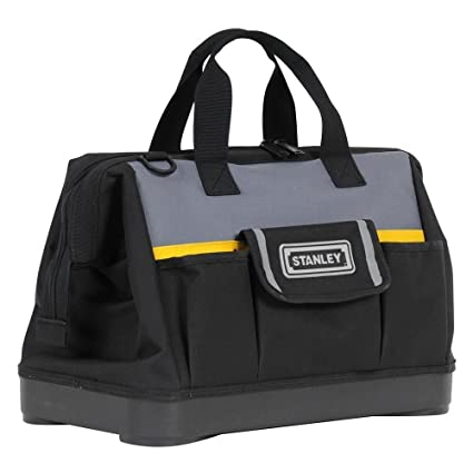 STANLEY 1-96-183 - Bolsa para herramientas de gran abertura con cremallera, base reforzada, 44.7 x 27.5 x 23.5 cm