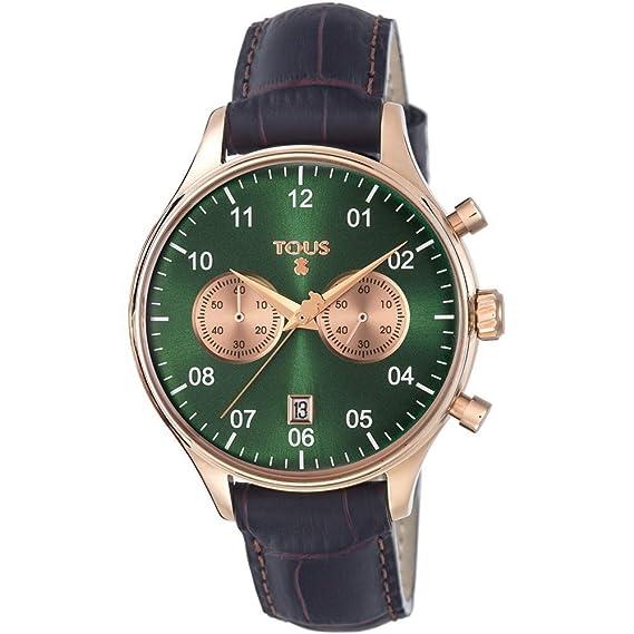 Tous Reloj para Mujer Analógico Cuarzo con Correa de Piel de vaca 600350445: Amazon.es: Relojes