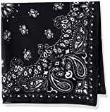 John Varvatos Star U.s.a Men's Paisley Bandana Print, Black, One Size
