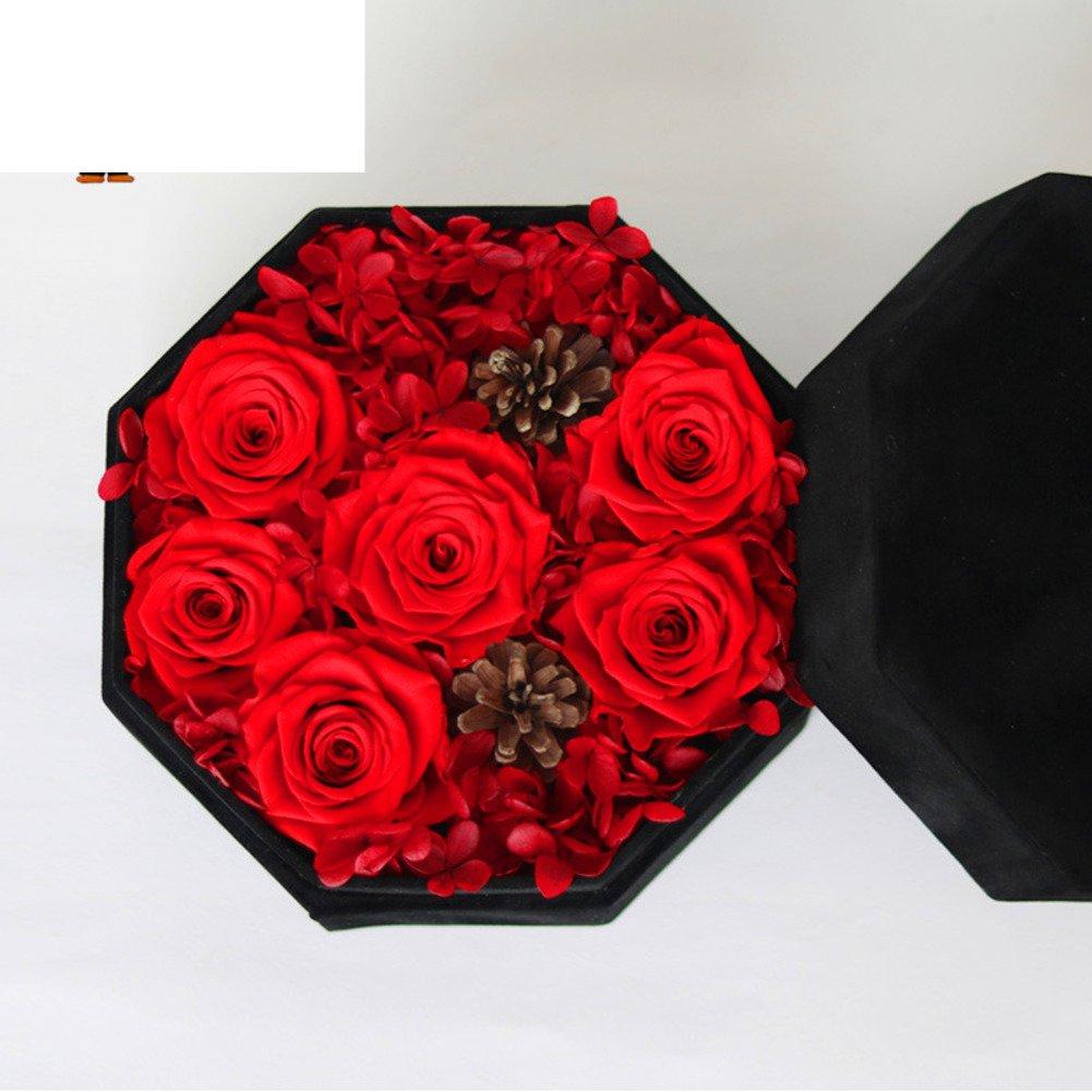 ライブインポート花ギフトボックス/ガラスのライブRoses / Fresh Flowerアイデアギフトボックス ROSE967 B077D8M9DB  T