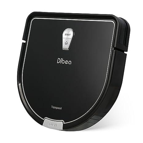 Dibea Robot Aspirador y fregado Limpieza Friegasuelos,Batería 2600mAh 2 horas, 1.2Kpa de potencia de succión, Filtro HEPA,Control Remoto,Suelo ...