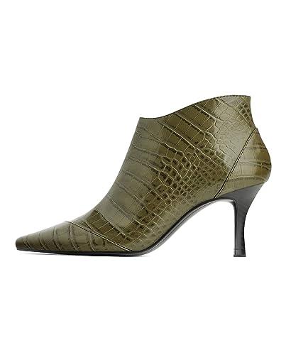73b5ea2fe75e0 Zara Women's Animal Print high Heel Ankle Boots 3119/001: Amazon.co ...