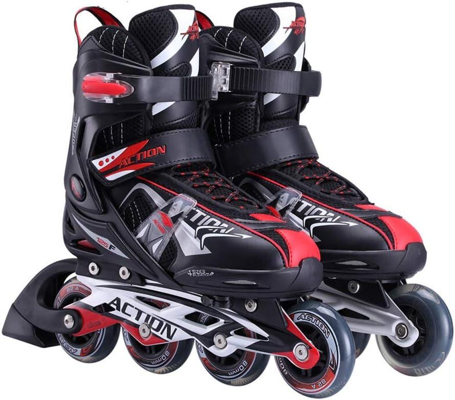 初心者 フィットネスタイプ 屋外 サイズ調整可能 向け Inline Skate ,男性女の子 フィットネスタイプ 屋内 ローラースケート,大人 ジュニア贈り物 インラインスケート (Color : 黒-2, Size : L-EU(40-43)) 黒-2 L-EU(40-43)