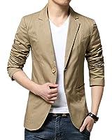(チーアン)Tiann メンズ ジャケット スーツ 生地 カジュアル コート ビジネス ジャケット テーラードジャケット 新着 サマージャケット スーツジャケット 無地 通勤 通学 紳士 上品 スリム 長袖 春夏秋冬 大きいサイズ