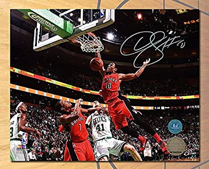 DeMar DeRozan Toronto Raptors Autographed Slam Dunk 8x10 Photo - Authentic Autographed  Autograph 387b6ca99