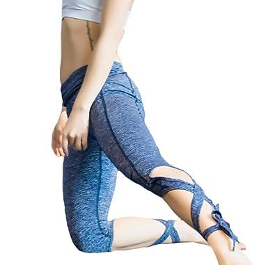 545d5c2dbb22 Lannister Fashion Damen Leggings Sport Fitness Jogginghose Strumpfhosen Elegant  Casual Ballett Training Sport Etui Hose Uni-Farben Slim Fit Kreuzgurte ...