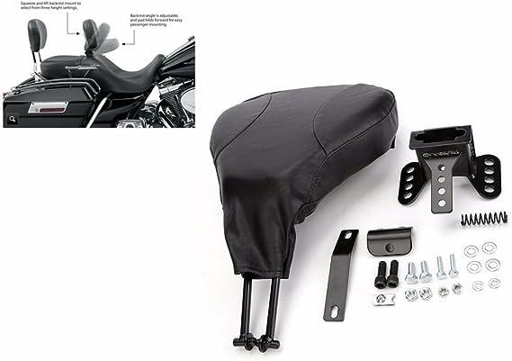 Lehne Für Fahrer Verstellbar Für Harley Fl Road King Electra Glide Ab Baujahr 09 Schwarz Auto