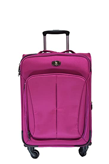 Polo House USA 4-Wheel Luggage Trolley Travel Bag ,Pink Colour ...