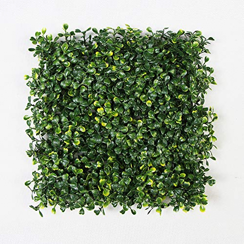 ULAND Artificial Hedges Panels, Boxwood Greenery Ivy Privacy Fence Screening, Home Garden Outdoor Wall Decoration, Pack of 4pcs 10''x10'' by ULAND