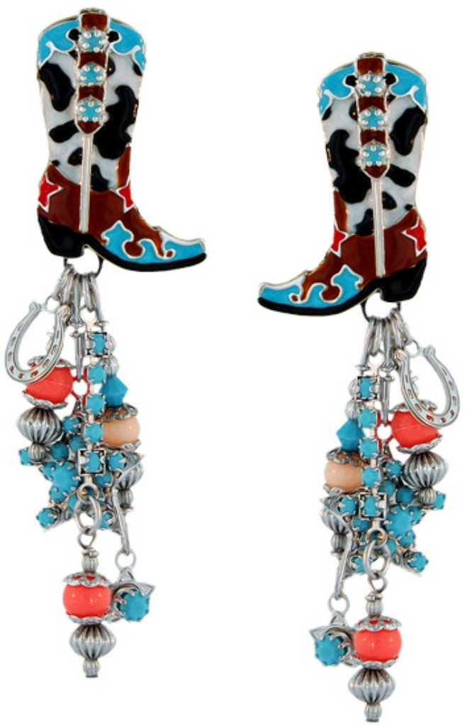 Lunch at The Ritz 2GO USA Rhinestone Cowgirl Earrings Clips