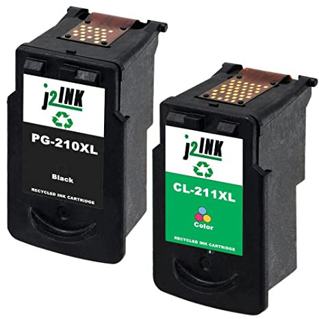 4 PK SET PG-210XL CL-211XL Black /& Color  Ink Cartridge for Canon PIXMA MP495