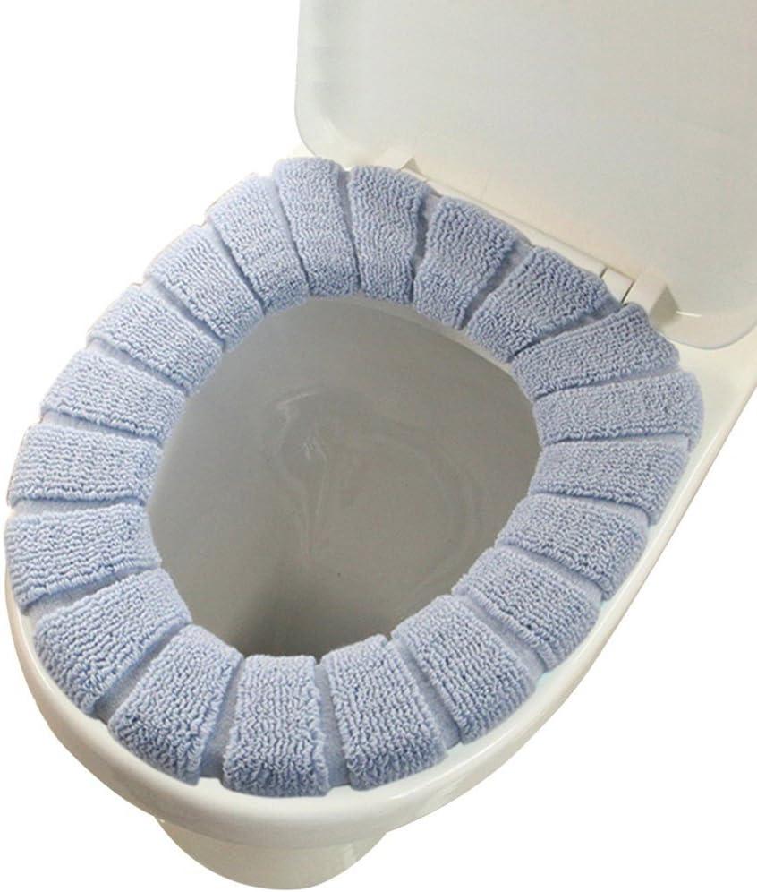 Cisixin Cubierta de Asiento de WC WC Spare Gris Higi/énico Suave Ba/ño de Lavado Asiento Cubierto de Tela