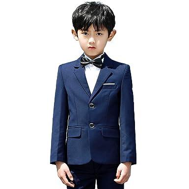 959097bf81443 (AIMI)子供スーツ 子供 男の子 フォーマル ジャケット シャツ ズボン 蝶ネクタイ 4点セット