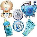 6 Unids globos XL baby shower azul ideales para la fiesta de nuevo bebes decoracion de bautizos cumpleaños , en cada…