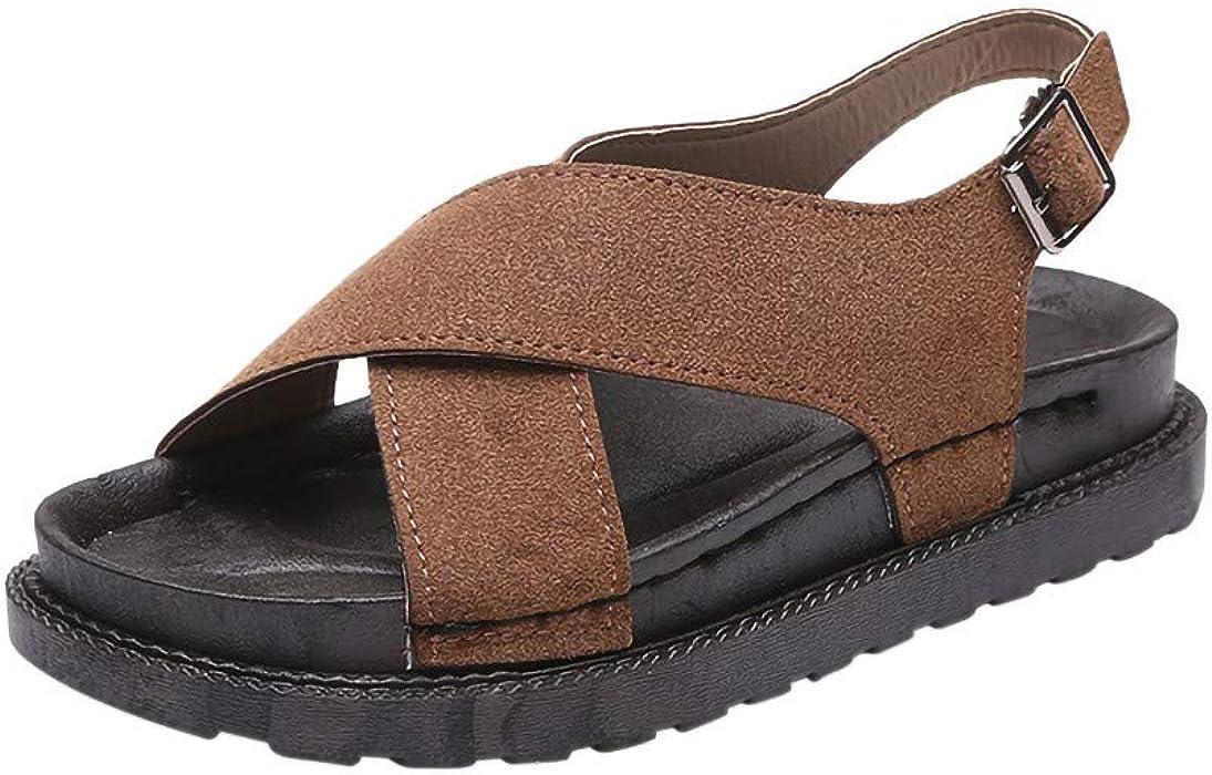 QINGXIA_ZI-Zapatos Chanclas para Mujer Damas deslizadoras Leopardo Mullido Piel sintética Zapatilla Plana Chanclas Sandalia