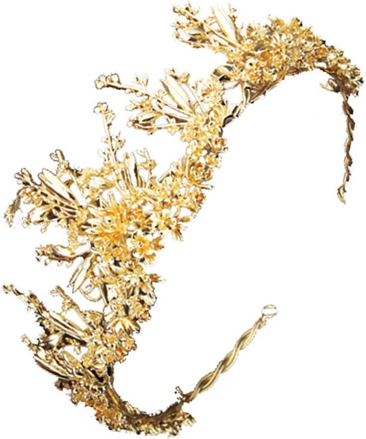 Couronne baroque alliage vintage diad/ème fleur laisse cheveux couronne coiffe de mari/ée mariage coiffure