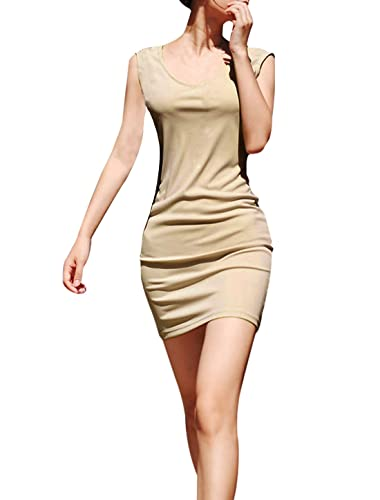Allegra K Ladies V Neck Sleeveless Sheath Dress