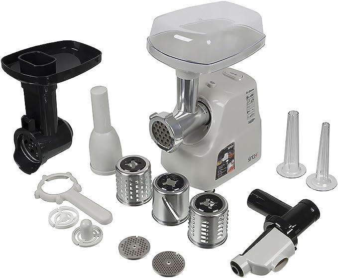 Sinbo SHB de 3091//2.000 W – Picadora de carne eléctrica máquina Incluye embutir salchichas kibbe Vello & cabezal para tomate Adecuado para salsas: Amazon.es: Hogar