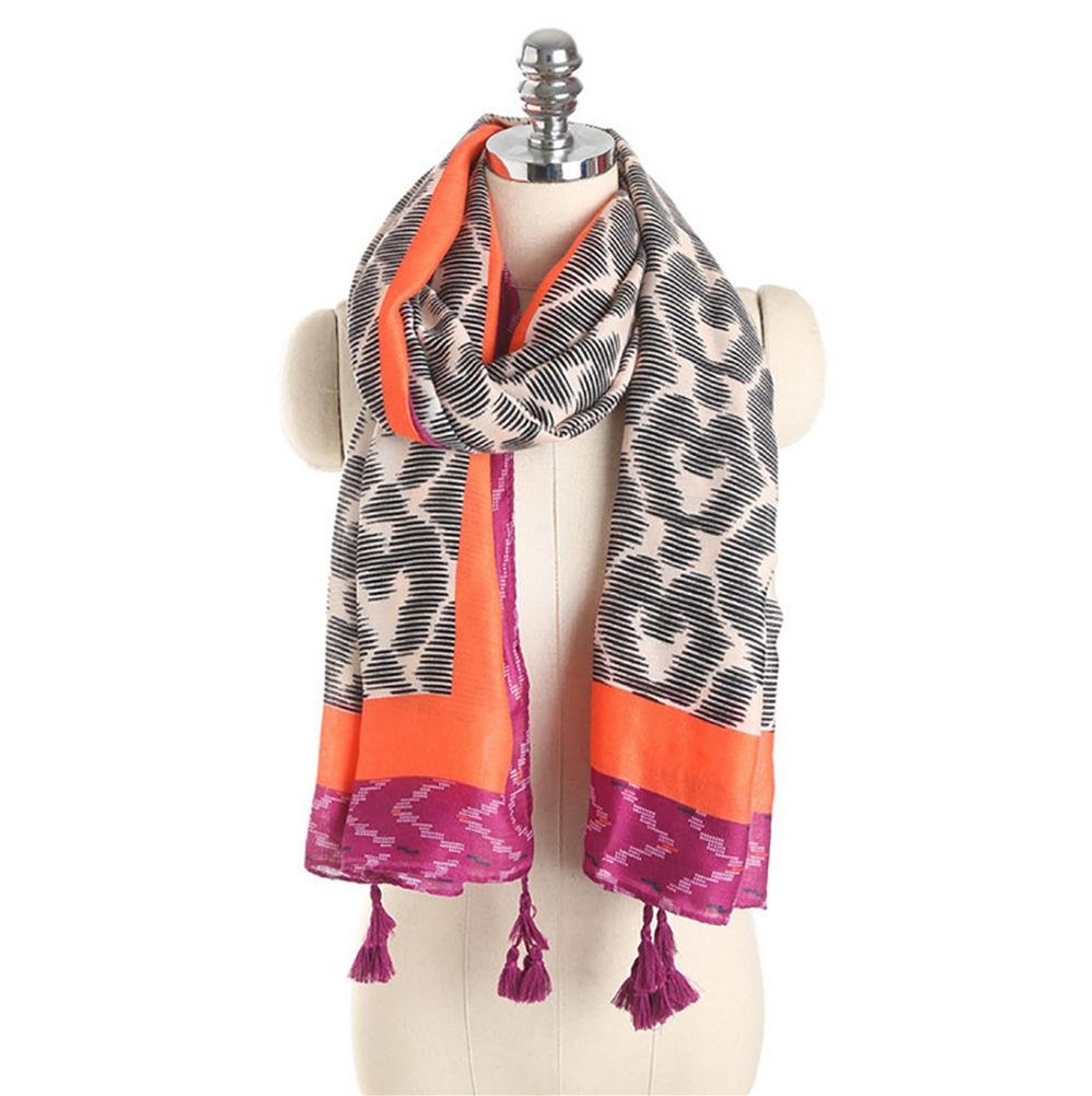 SALY Bufanda de lino de la cremallera del mantón de la borla del aerosol de la señora , 180*95cm