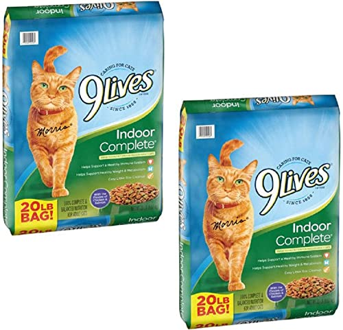 9Lives Dry Cat Food Indoor Complete, 40 LBS.