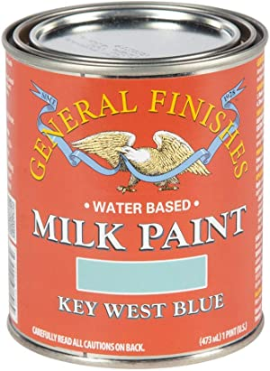 General Finishes Water Based Milk Paint, 1 Pint, Key West