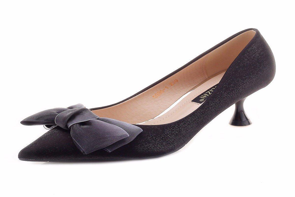 HBDLH Damenschuhe 5Cm Hochhackigen Schuhe Sommer Schlank und Wilde Schmetterlinge Sagte Frauen Schuhe Schuhe.