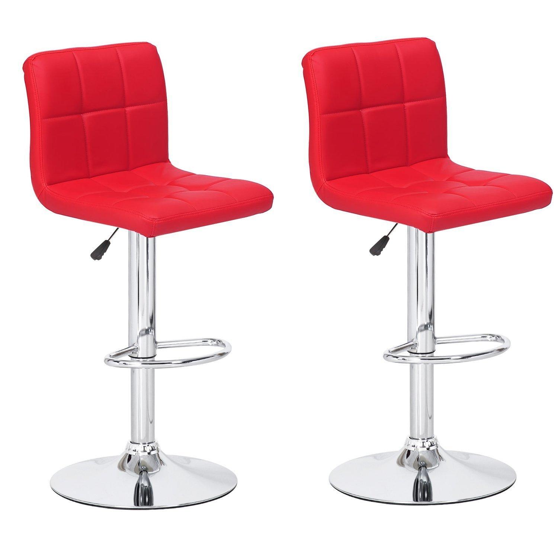 Awe Inspiring Amazon Com Adi 4489Rd Contemporary Air Lift Swivel Red Bar Theyellowbook Wood Chair Design Ideas Theyellowbookinfo