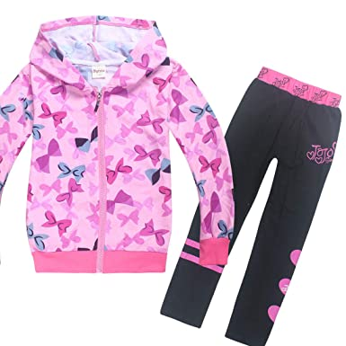 d0ce94d491e JoJo Siwa Bomber Bow Zipper Jacket Set Casual Sweatshirt with Long Pants  for Girls (110cm