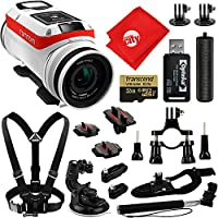 TomTom Bandit 4K GPS 32GB Action Camera + Opteka HandGrip + Chest and Wrist Strap + Bike Mount + Selfie Stick + Car Suction Cup + Card Reader + Tripod Adapter + Cleaning Cloth