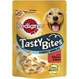 Pedigree Tasty Bites Dog Treats Cheesy Nibbles with Beef, 140 g (Pack of 8)