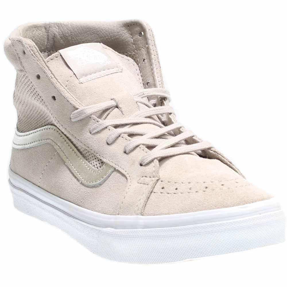 Vans Unisex Sk-8Hi Slim Cutout (Mesh) Skate Shoe B019KYYNH2 9.5 B(M) US|(Perf Suede) Silver Cloud