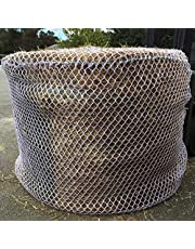Upgraded KNOTLESS 5mm Thick Round Bale Slow Feed Hay Net 6x6