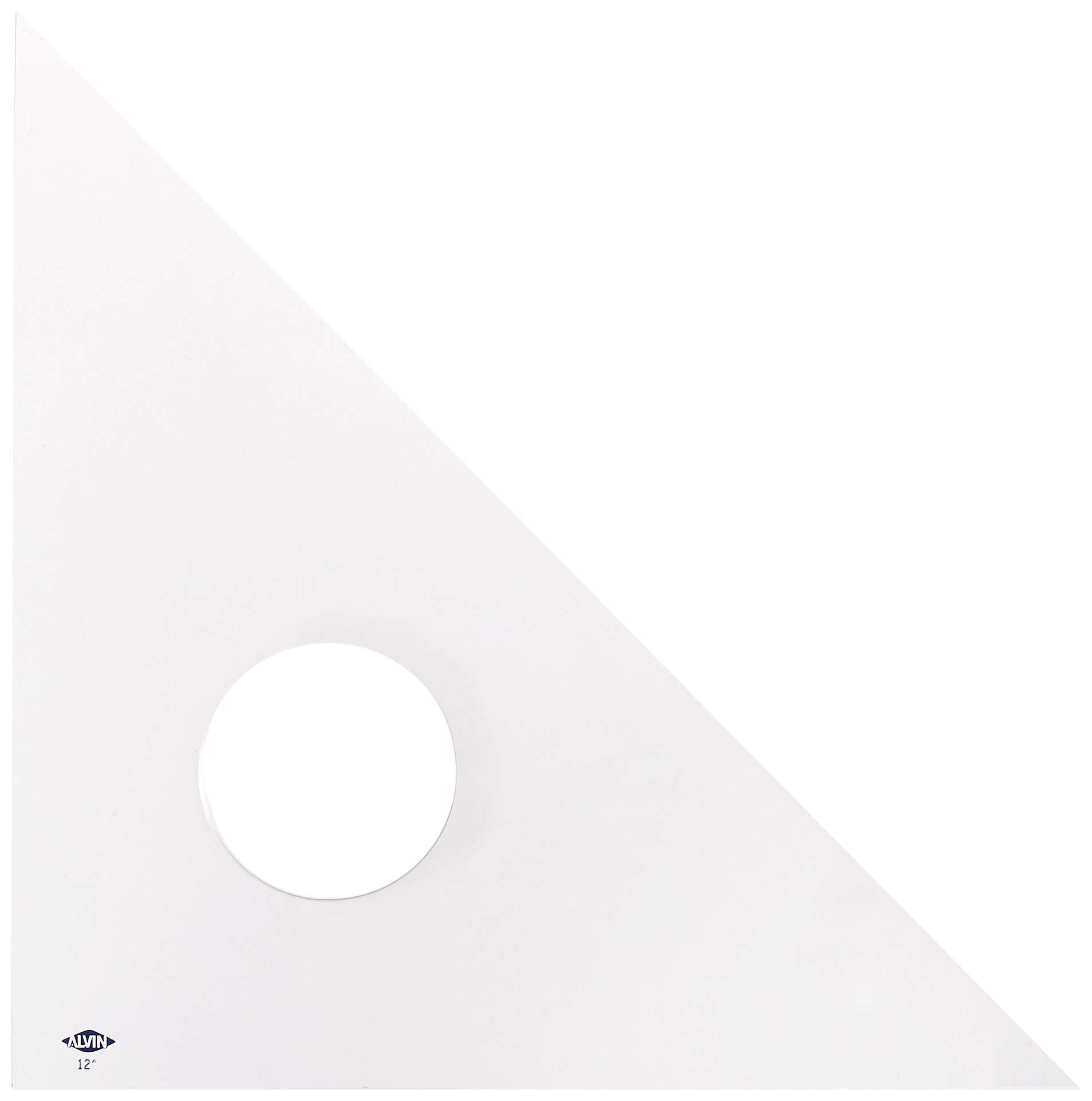 Alvin 12-Inch Clear Professional Acrylic Triangle 45/90 Degrees (131C-12)