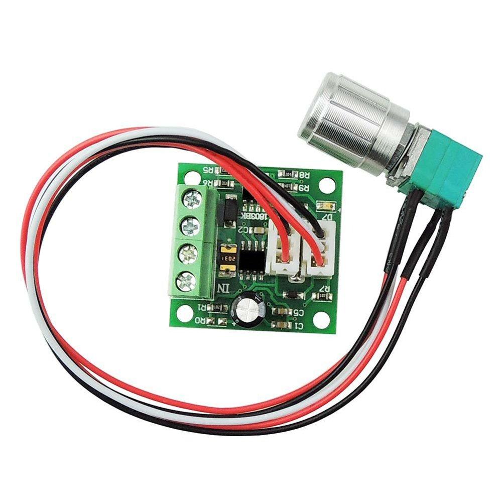 uniquegoods PWM DC Motor Speed Controller 1.8V 3V 5V 6V 7.2V 12V (2A) Speed Regulator Adjustable Driver Wring Switch 30W MEI MOTOR Electronic Technology 1803BKW