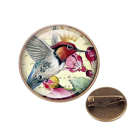 NEW RUBY THROATED HUMMINGBIRD HAT BIRD PIN LAPEL PINS