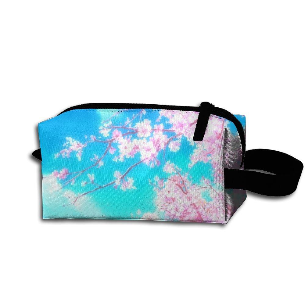 メイクアップコスメティックバッグPeach Blossoms art love medicine bag Zip旅行ポータブルストレージポーチforメンズレディース   B07DWL8QD3