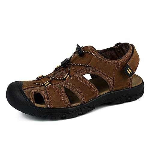 c0386ead3 NEOKER Cuero Sandalias Deportivas para Hombre Outdoor Verano Senderismo  Trekking Zapatos Marron Verde 38-48  Amazon.es  Zapatos y complementos