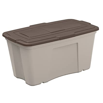Beau Suncast 50 Gallon Storage Bin   Durable Resin Tote For Yard Tools And Pool  Toys