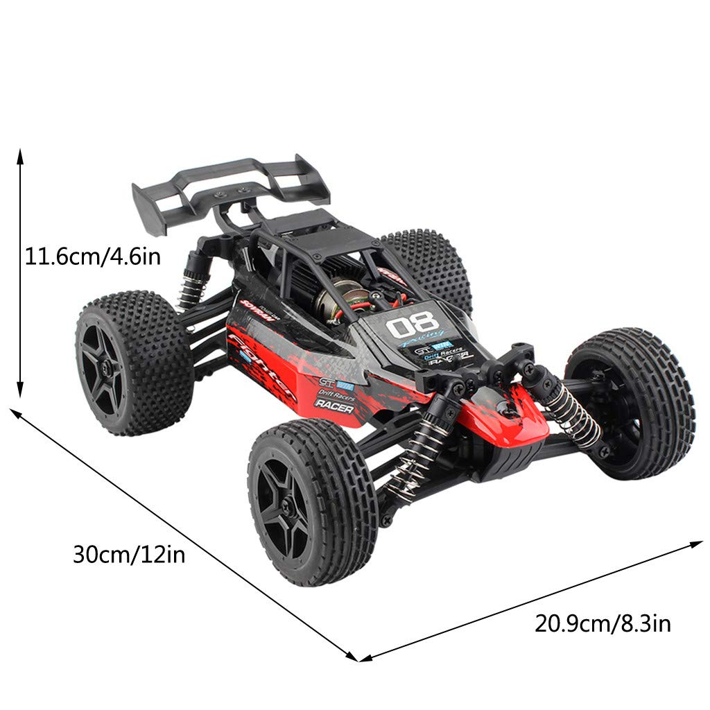 ASfairy G171 1:16 2.4G 4WD Scale Large RC Cars 36km/h+ Speed | Boys Remote Control Car Monster Truck Electric | All Terrain Waterproof Toys Trucks for Kids and Adults by ASfairy (Image #6)