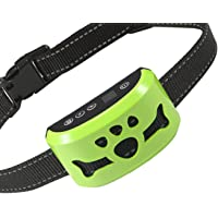 Dog No Bark Collar with Smart Detection Vibration and Harmless Shock- Rechargeable Anti Barking…