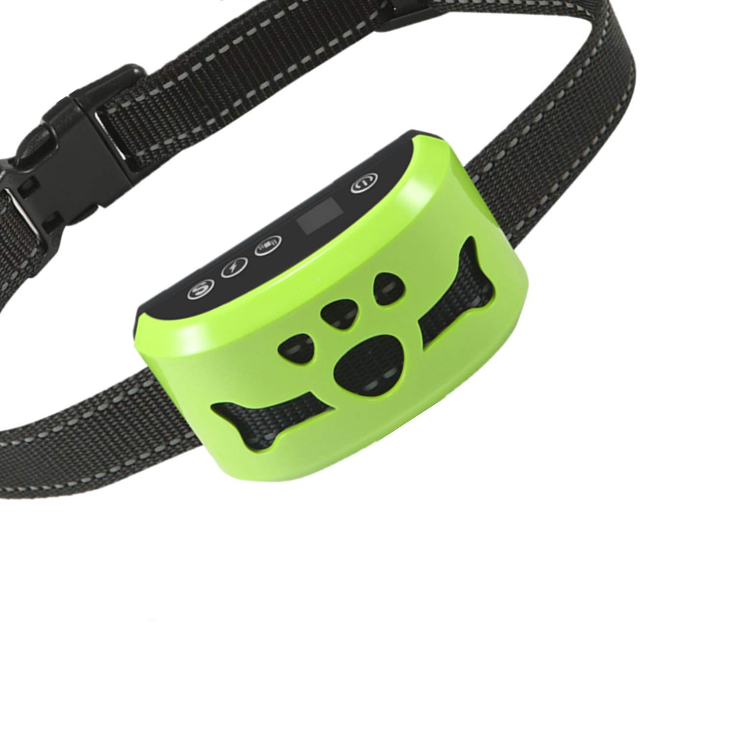 Dog No Bark Collar with Smart Detection Vibration and Harmless Shock- Rechargeable Anti Barking Device for Small Medium and Large Dog (Green) by Dog Bark Collar