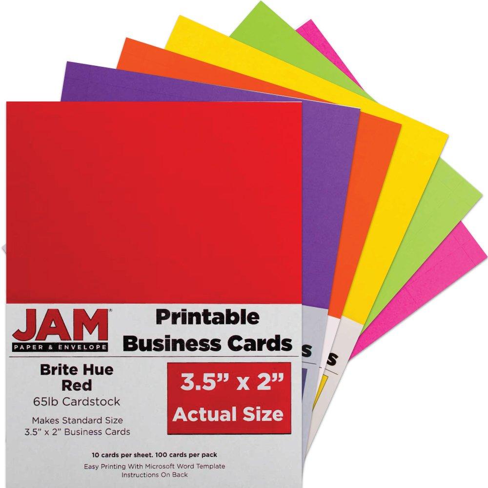 Amazon.com : JAM Paper Printable Business Cards - 3 1/2\