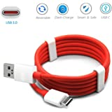 GoSale Rubber USB Type C Cable for Samsung Galaxy A8 Plus 2018 (GS_TYPE_C_RED_DASH_USB_00178)