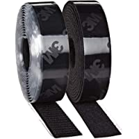 3M Hook and Loop Tape, Self Adhesive Sticky Back Roll Fastener (1 in x 10 Ft) Converted from 3M SJ3571-SJ3572 (Black) for Fastening Panels, Mats, Carpets, Rugs, Tags