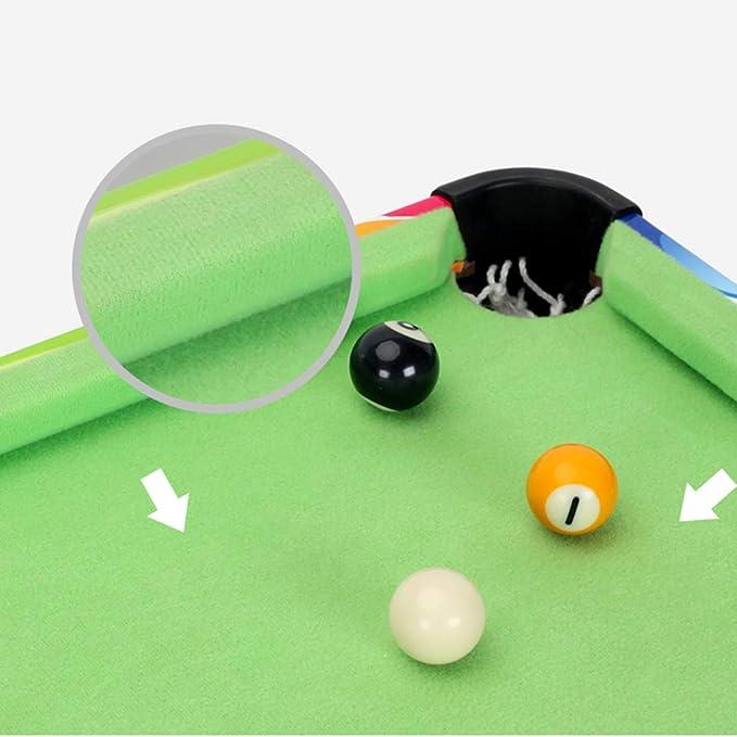 Mesa de Billar para niños 3 en 1, la Mini Juego de Madera, Hockey sobre Hielo, Ping Pong, Billar Plegable es Ideal para Salas de Juegos, centros Comercial: Amazon.es: Hogar