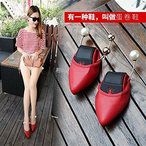 Comfort Flat per Toe Microfiber Size Heel Scarpe Camminata Donna Large Scarpe Casual B Summer Flats Pointed da da zqOf4wI